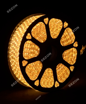 Купить БУХТА 3-жильн. круглий LED 80 м, білий теплий, шт