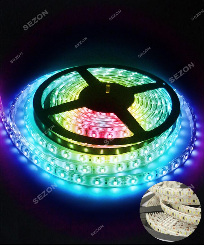Вулична LED стрічка 5050, 18м, мульті