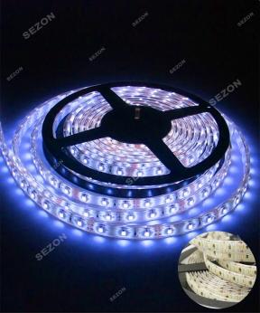 Купить LED стрічка синя 5м 12вольт