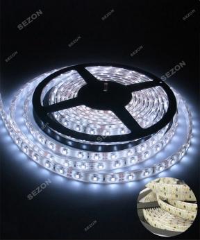 Купить LED стрічка біла 5м 12 вольт
