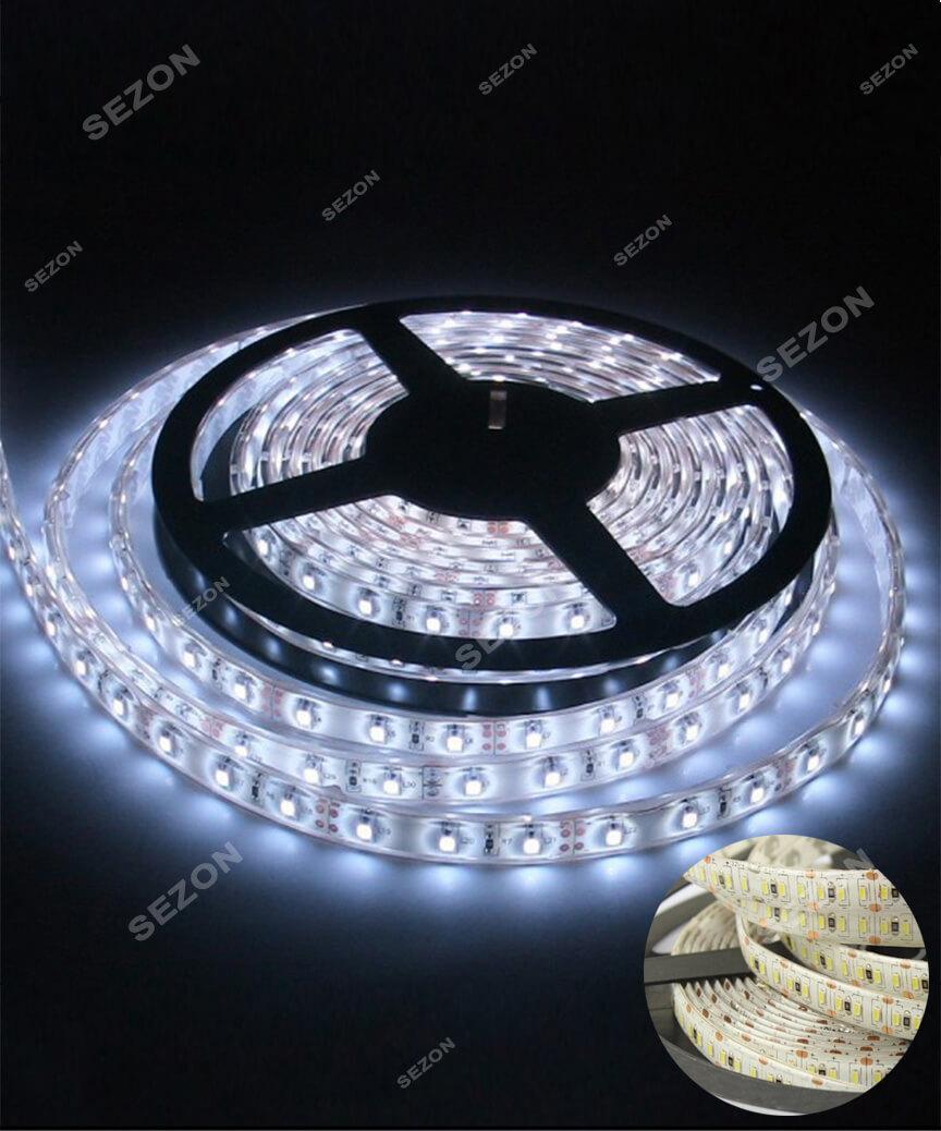 LED стрічка біла 5м 12 вольт