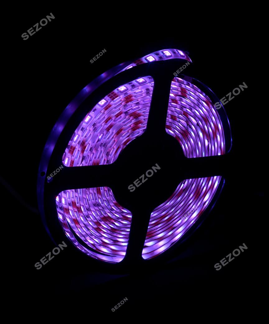 LED стрічка 5050,  5м с пультом, мульті RGB