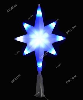 Купить Верхівка LED 8- кутня 16L синьо-білий