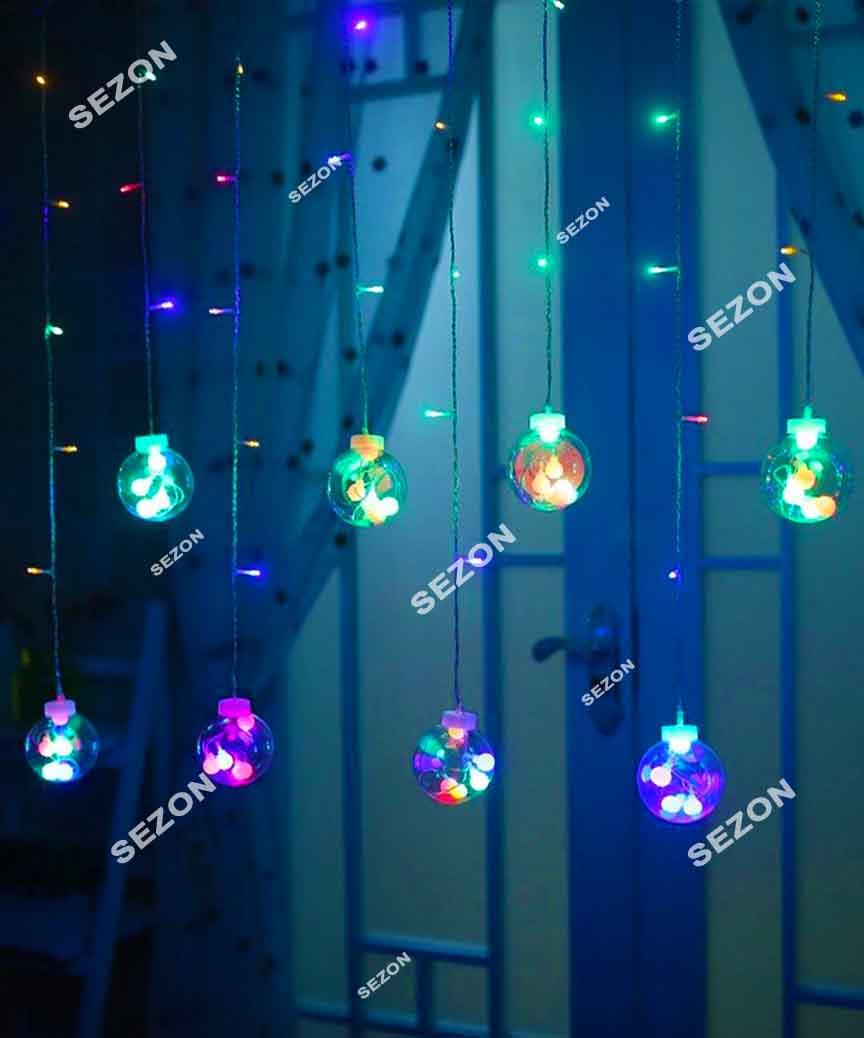 Штора-кульки 12шт,  2,5м*0,8м. мульті