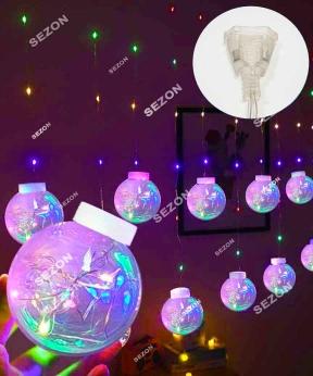 Купить Штора-кульки  РОСА 10шт,  3м*0,8м+ з'єднювач, мульті