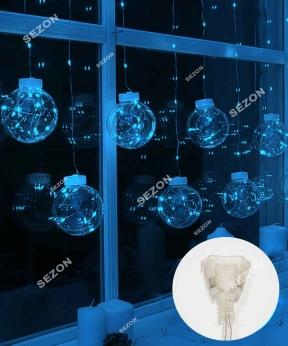 Купить Штора-кульки  РОСА 10шт,  3м*0,8м+ з'єднювач, синій
