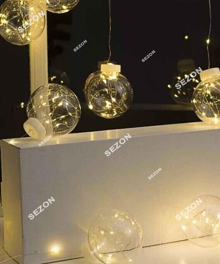 Штора-кульки РОСА 10шт, 3м*0,8м. білий тепл