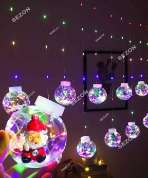 Купить Кульки-роса Дід Мороз 10шт, 3м*0,8м/ перехідник,  мульті