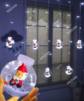 Купить Кульки-роса Дід Мороз 10шт, 3м*0,8м/ перехідник,  білий
