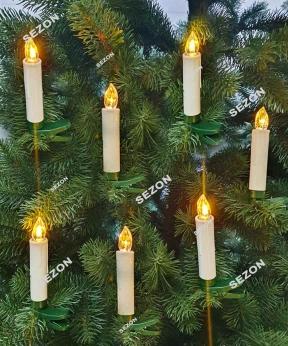 Купить Свічки на батарейках 12шт, пульт ДУ, білий теплий