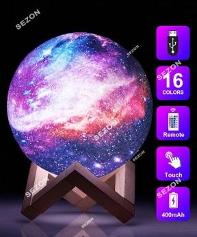 Купить Нічник КОСМОС 15см, USB/пульт /акумулятор 16-ти колірний