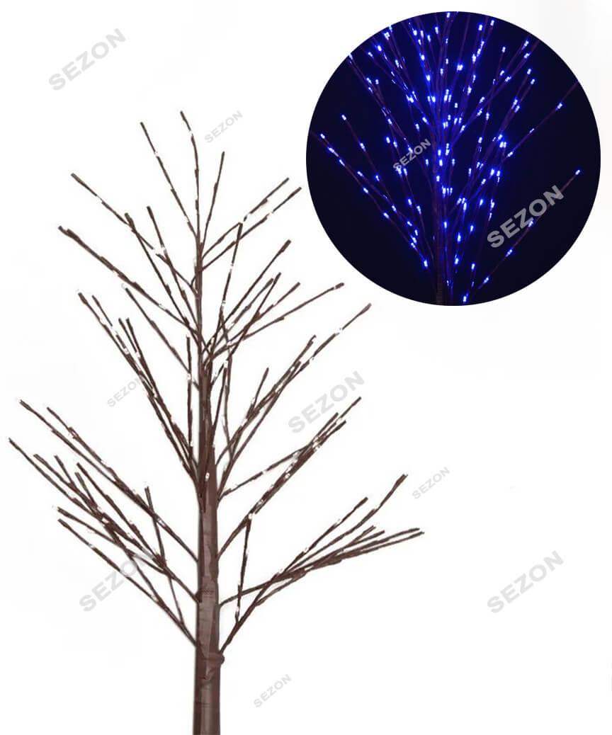 Дерево коричневе 225 LED 1,5м,   синій