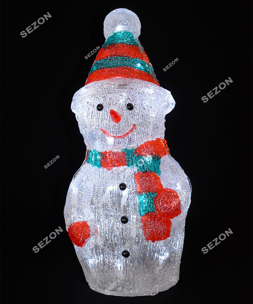 Сніговик акриловий  LED  50 см
