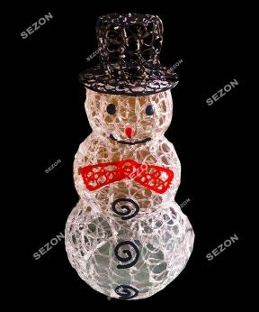 Купить Сніговик акриловий з чорною шляпою