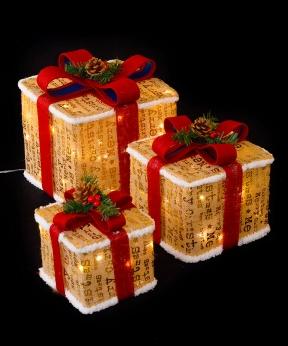 Купить Подарунки  LED,  45 см  золотий з білим