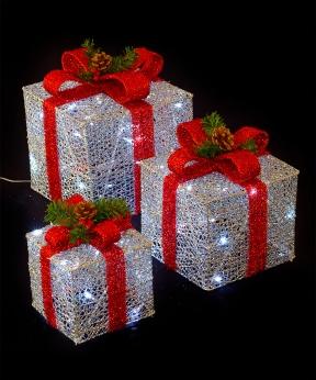 Купить Подарунки  LED,  45 см  срібний з червоним