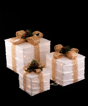 Купить Подарунки  LED,  45 см  білий з золотом 19-023-W