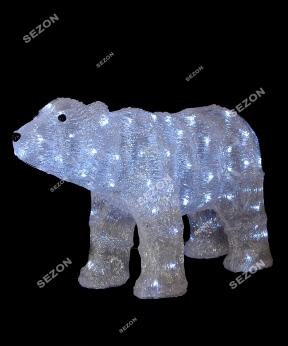 Купить Ведмідь акриловий LED розмір  35см* 60см