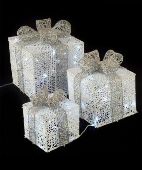 Купить Подарунки  LED,  45 см  білий з бронзою