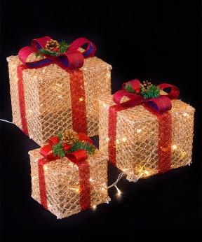Купить Подарунки  LED,  45 см  золотий з бордовим