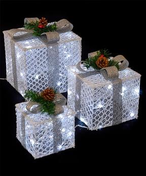 Купить Подарунки  LED,  45 см  білий з золотом
