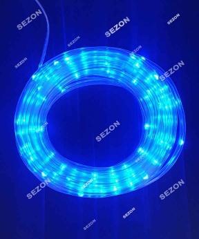 Купить РОСА в силіконовій трубці 100 LED, 10м, синій