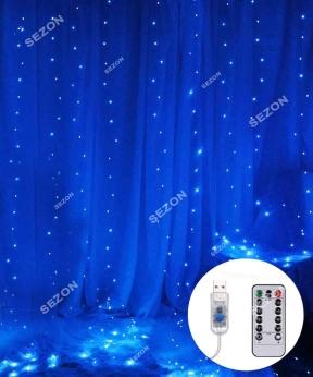 Купить Штора-роса 144л 1,8м*1,2м, USB/пульт, синій