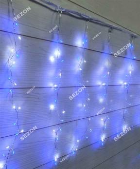 Купить Штора 200LED роса-фейерверк 3м*0,6м/ перехідник, синьо-біла