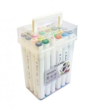 Купить Набор скетч-маркеров 24 цвета  в пластиковом боксе  P-24C-W
