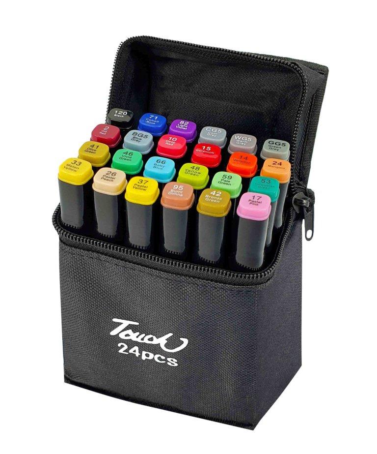 Набор скетч-маркеров 24 цвета в сумке B-24C-B