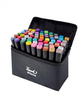 Купить Набор скетч-маркеров 60 цветов в сумке B-60C-B
