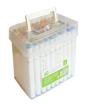 Купить Набор скетч-маркеров 60 цвета  в пластиковом боксе  2019-60