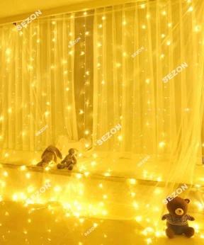 Купить Штора 180 LED 1,8м*1,5м, прозор/провід  2,2мм, білий теплий (статичний режим)