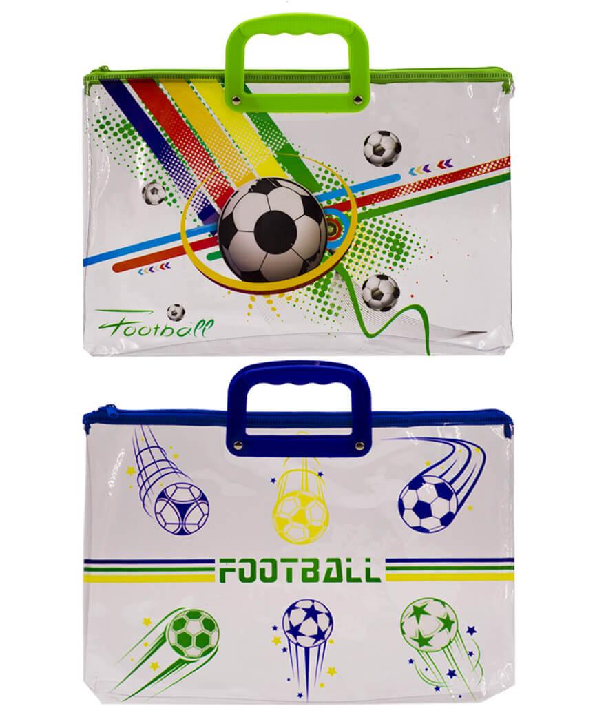Папка с пластиковыми ручками  А4  33-2 Футбол