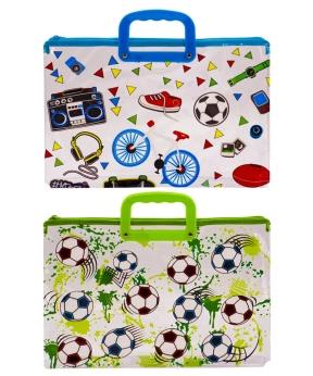Купить Папка с пластиковыми ручками  А4  33-2 Футбол