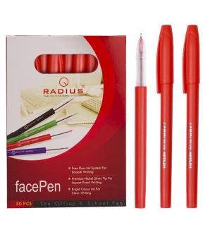 Купить Ручка «FAСEPEN» RADIUS, красная