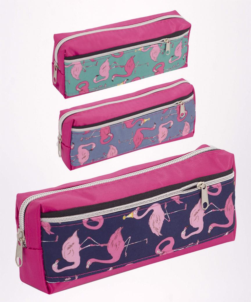 Пенал праздничные Фламинго, 4011  20*6,5*4см