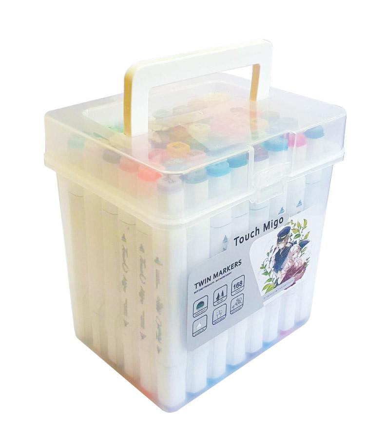 Набор скетч-маркеров 48 цвета  в пластиковом боксе