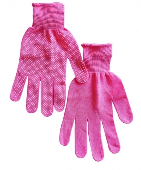 Купить Рукавиці стрейчові з  мікро крапкою, рожеві
