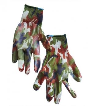 Купить Рукавиці стрейчеві захистного кольору з нітріловим покриттям