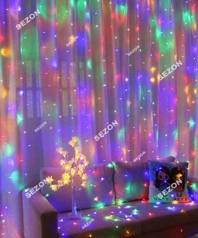 Купить Штора 120 LED   1.8м*1.2м, мульті