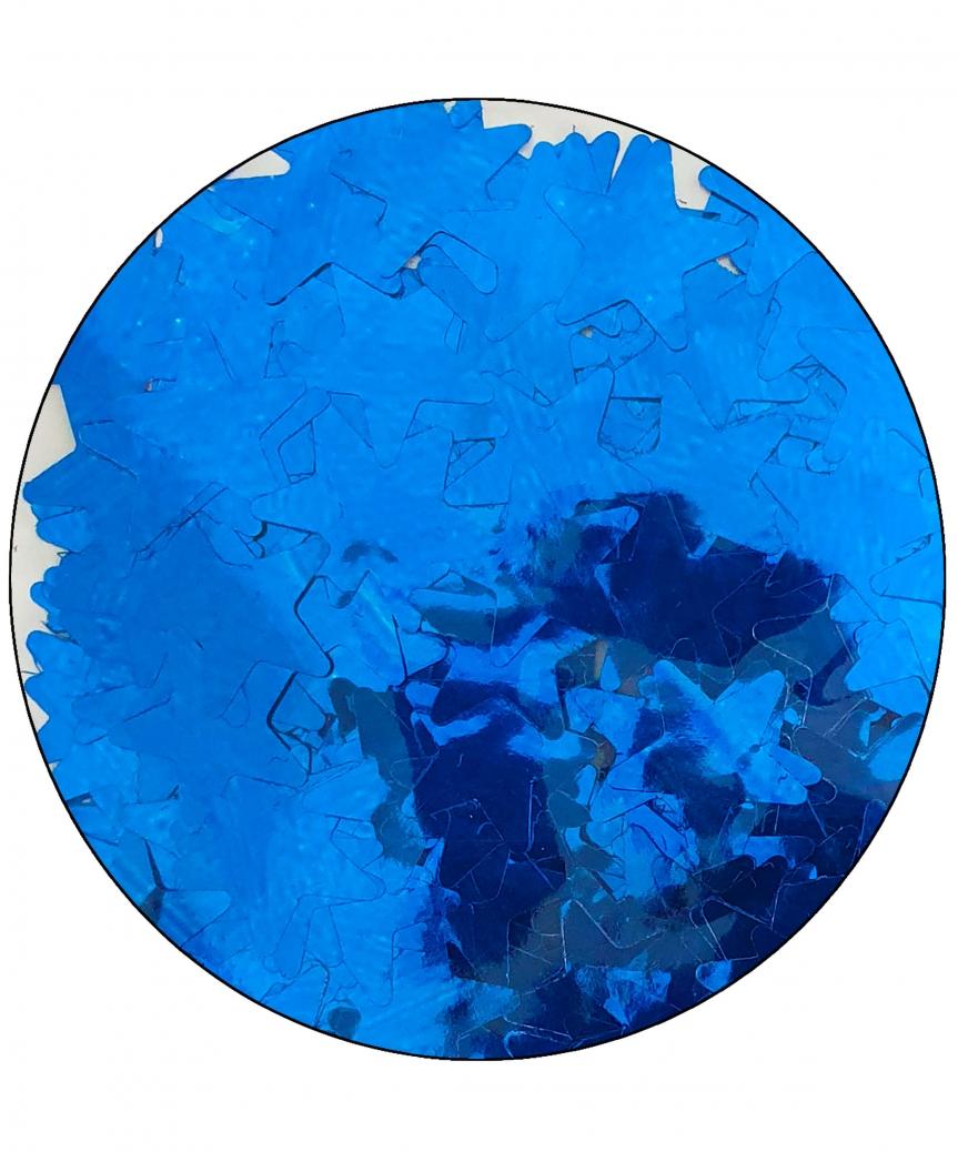 Конфетти звездочки 15мм синие 6205, 15гр