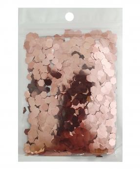 Купить Конфетти шестигранник 6мм розовое 6303, 15гр