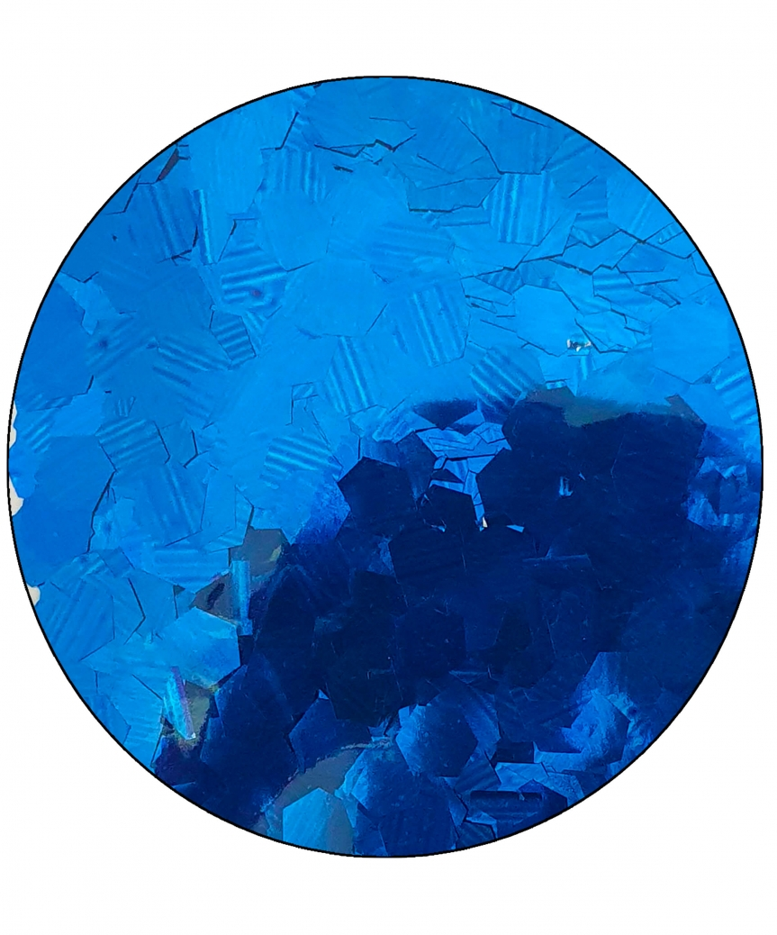 Конфетти шестигранник 6мм синее 6305, 15гр