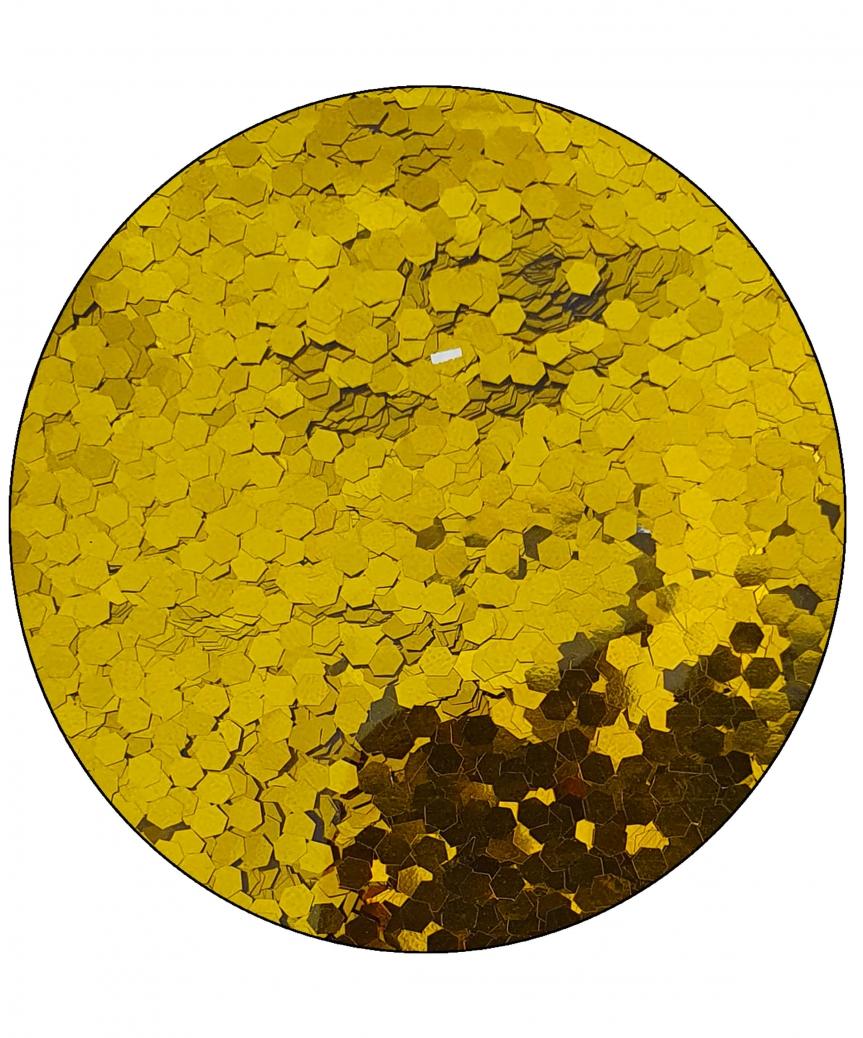 Конфетти шестигранник 3мм золото 6401, 15гр