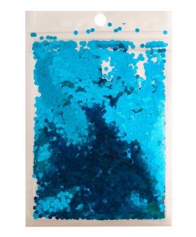 Купить Конфетти шестигранник 3мм голубое 6404, 15гр