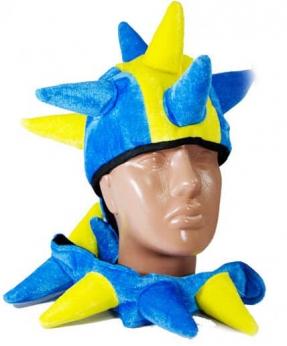 Купить Шапка ДРАКОН сине-желтая  LF-400