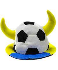 Купить Шапка МЯЧ с рогами, сине-желтый LF500-2
