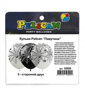 """Купить Шарики Pelican 12' (30 см)  """"Паутинка"""" 5-стор., 10шт/уп"""