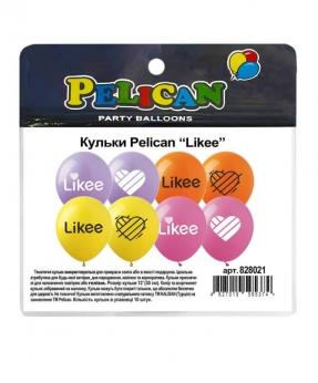 """Купить Шарики Pelican 12' (30 см)  """"LIKEE"""" 1-стор., 10шт/уп"""